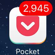 Pocketのバッジ2945